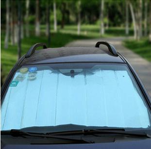 汽车遮阳帘卷帘网点70*140夏季隔热伸缩太阳挡 遮阳挡